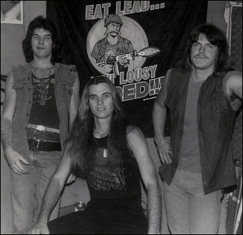 The At War line-up pictured in 1985